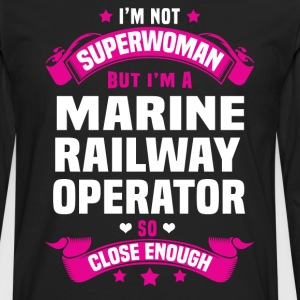 Marine Railway Operator T-Shirts - Men's Premium Long Sleeve T-Shirt