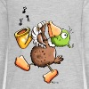 Funny Duck With Saxophone Kids' Shirts - Kids' Premium Long Sleeve T-Shirt