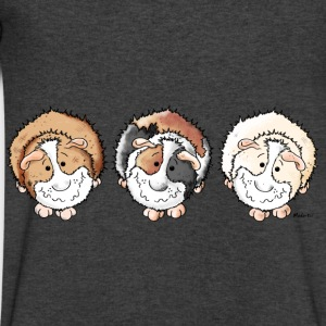 Funny Guinea Pigs Long Sleeve Shirts - Men's V-Neck T-Shirt by Canvas