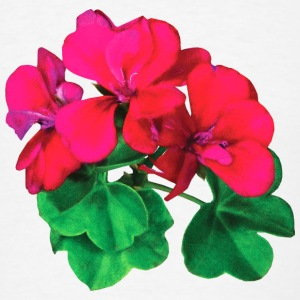 Small Magenta Geraniums Buttons - Men's T-Shirt