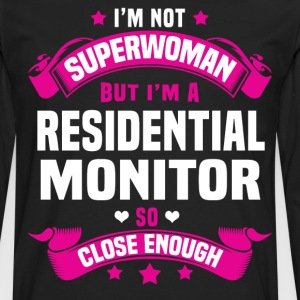Residential Monitor Tshirt - Men's Premium Long Sleeve T-Shirt