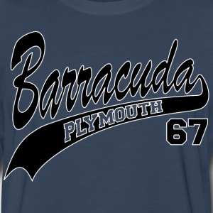 67 Barracuda - white outline - Men's Premium Long Sleeve T-Shirt