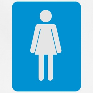 Women bathroom blue sign - Adjustable Apron
