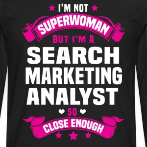 Search Marketing Analyst Tshirt - Men's Premium Long Sleeve T-Shirt