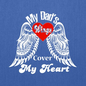 My Dad's Wings Cover My Heart T Shirt - Tote Bag