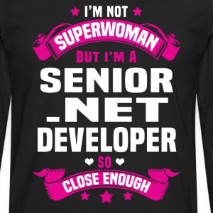 Senior .NET Developer Tshirt - Men's Premium Long Sleeve T-Shirt
