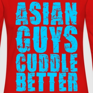 Asian Guys Cuddle Better T-Shirts - Women's Premium Long Sleeve T-Shirt