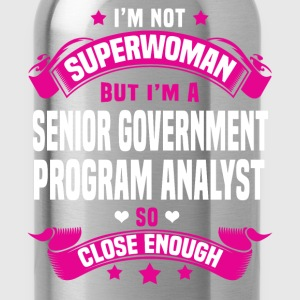 Senior Government Program Analyst Tshirt - Water Bottle