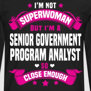 Senior Government Program Analyst Tshirt - Men's Premium Long Sleeve T-Shirt