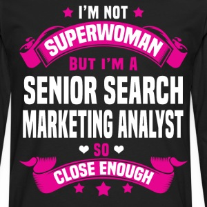 Senior Search Marketing Analyst Tshirt - Men's Premium Long Sleeve T-Shirt