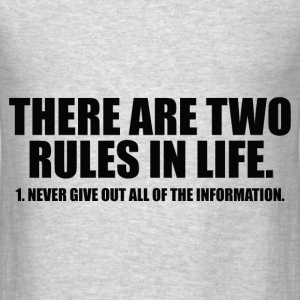 TWO RULES IN LIFE Hoodies - Men's T-Shirt