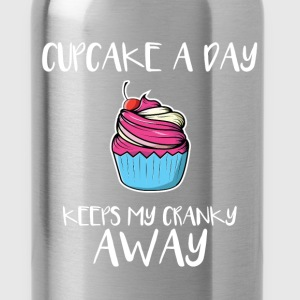 Cupcake - Cupcake a day keeps my cranky away - Water Bottle