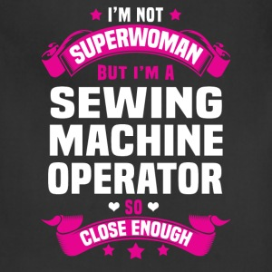 Sewing Machine Operator Tshirt - Adjustable Apron