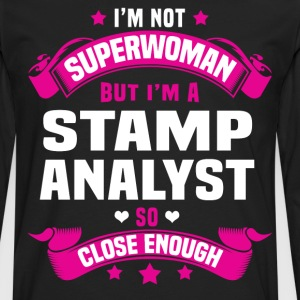 Stamp Analyst Tshirt - Men's Premium Long Sleeve T-Shirt