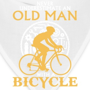 An Old Man With A Bicycle T Shirt - Bandana