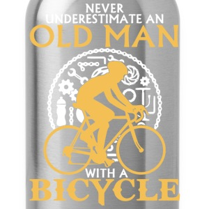 An Old Man With A Bicycle T Shirt - Water Bottle