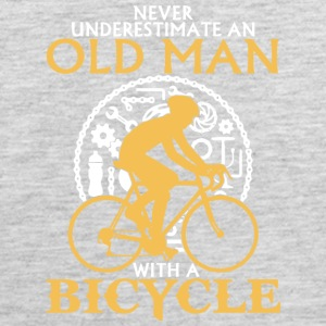 An Old Man With A Bicycle T Shirt - Men's Premium Tank