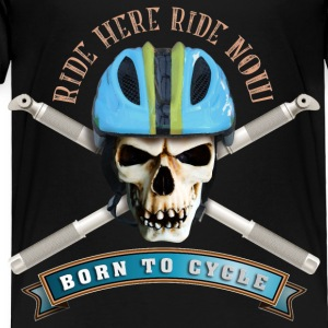 bicycle_skull_helmet_a Kids' Shirts - Toddler Premium T-Shirt