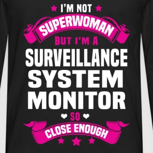 Surveillance System Monitor Tshirt - Men's Premium Long Sleeve T-Shirt
