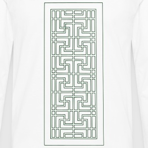 Deco Maze T-Shirts - Men's Premium Long Sleeve T-Shirt