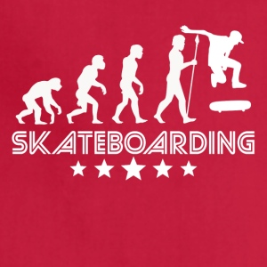 Retro Skateboarding Evolution - Adjustable Apron