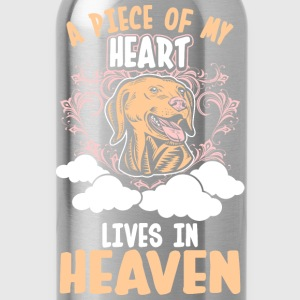 A Piece Of My Heart Lives In Heaven Golden Retriev T-Shirts - Water Bottle