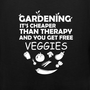 Gardening - Gardening it's cheaper than therapy an - Men's Premium Tank