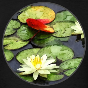 Water Lily Pond in Autumn Sportswear - Men's T-Shirt