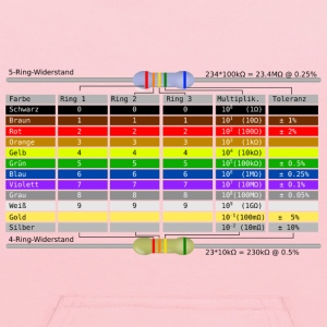 Resistor Color Code Table (German) - Kids' Hoodie