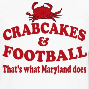 Crabcakes And Football That's What Maryland Does T-Shirts - Men's Premium Long Sleeve T-Shirt