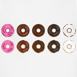 Assorted Plain Frosted Donuts - Adjustable Apron