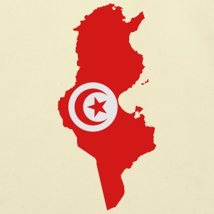 Tunisia Flag Map - Eco-Friendly Cotton Tote