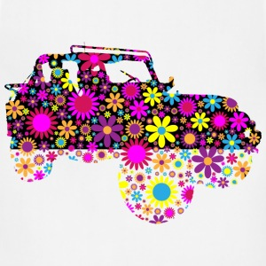 Floral Jeep Silhouette - Adjustable Apron