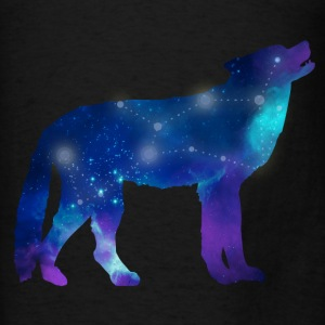 Wolf Lupus Constellation Astrology Hoodies - Men's T-Shirt