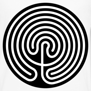 Cretan Labyrinth - Men's Premium Long Sleeve T-Shirt