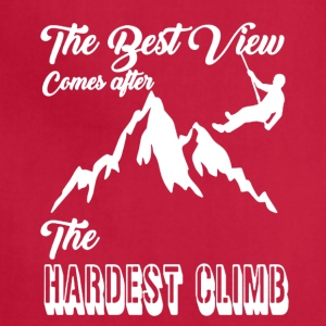 Hardest Climb Shirt - Adjustable Apron