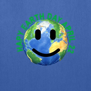 happy_earth_day_smile_tshirt - Tote Bag