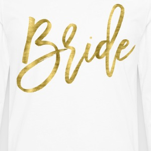Bride Shirts Gold Foil Effect - Men's Premium Long Sleeve T-Shirt