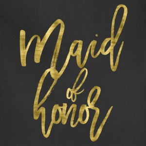 Maid Of Honor Gold Foil - Adjustable Apron