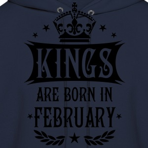 Kings are born in February King Birthday Gift Vint - Men's Hoodie