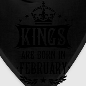 Kings are born in February King Birthday Gift Vint - Bandana