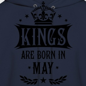 Kings are born in May King Birthday Gift Vintage T - Men's Hoodie