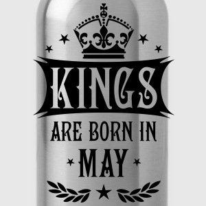 Kings are born in May King Birthday Gift Vintage T - Water Bottle