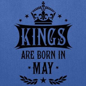 Kings are born in May King Birthday Gift Vintage T - Tote Bag
