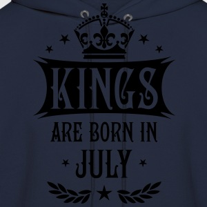 Kings are born in July King Birthday Gift T-Shirt - Men's Hoodie