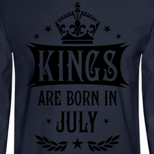 Kings are born in July King Birthday Gift T-Shirt - Men's Long Sleeve T-Shirt