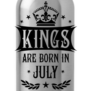 Kings are born in July King Birthday Gift T-Shirt - Water Bottle