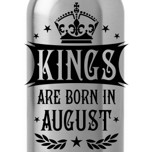 Kings are born in August King Birthday Gift Vintag - Water Bottle