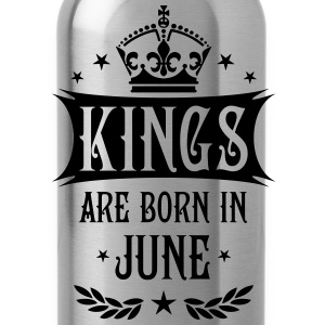 Kings are born in June King Birthday Gift Vintage  - Water Bottle