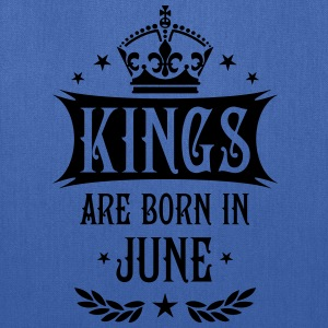 Kings are born in June King Birthday Gift Vintage  - Tote Bag